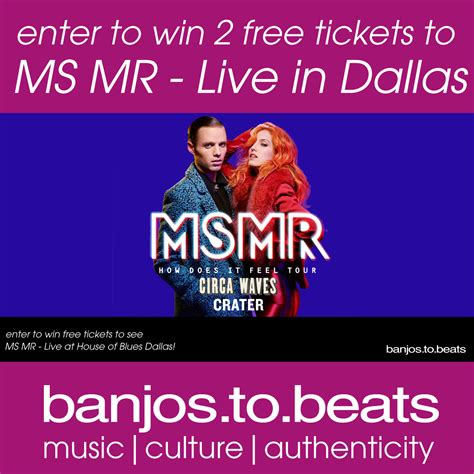 Mr Giveaway - win ms mr ticket giveaway banjos to beats
