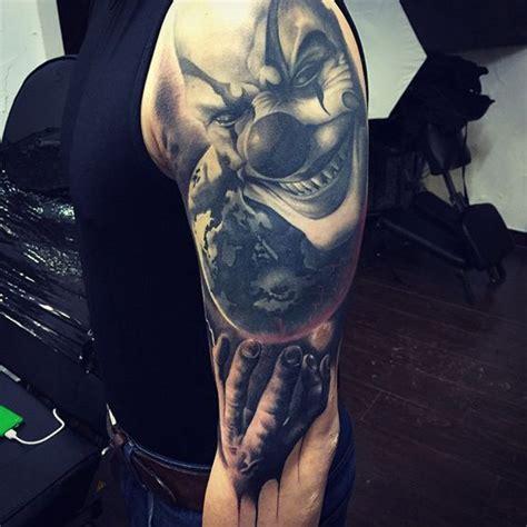 30 terrifying clown tattoo designs amazing tattoo ideas