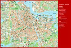 Large top tourist attractions map of amsterdam city vidiani com