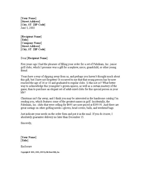sales letter to past customer letter templates download