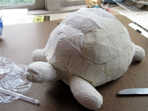 How To Make Paper Tortoise - ploughshare tortoise sculpture stage two ultimate paper