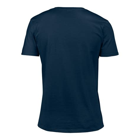 gi64v00 softstyle v neck t shirt navy gildan