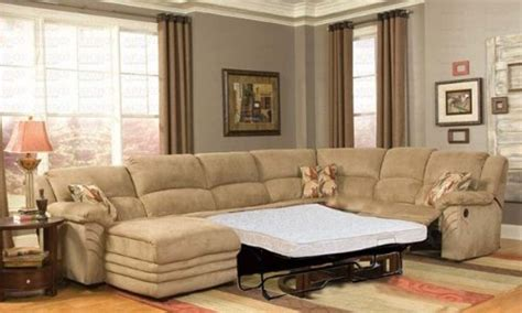 Sectional With Sleeper And Recliner by Reclining Sectional Left Sofa With Sleeper In Beige