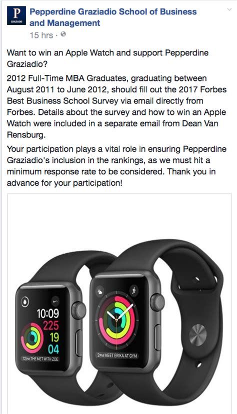 Mba Roles At Apple by Pepperdine Offers Apple For Mba Ranking