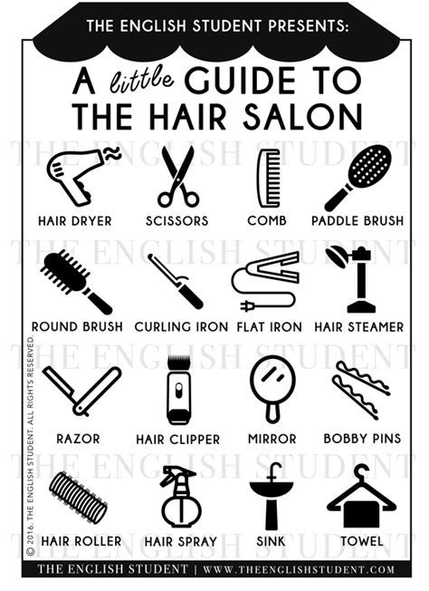 hair salon vocabulary fun english learning site for students and teachers the