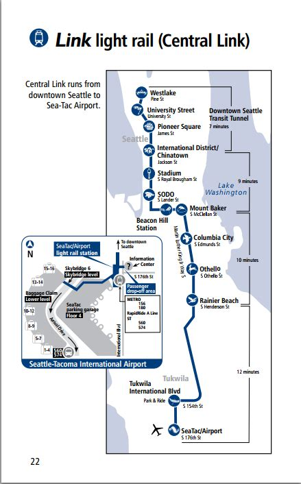 seattle link light rail map official map seattle central link