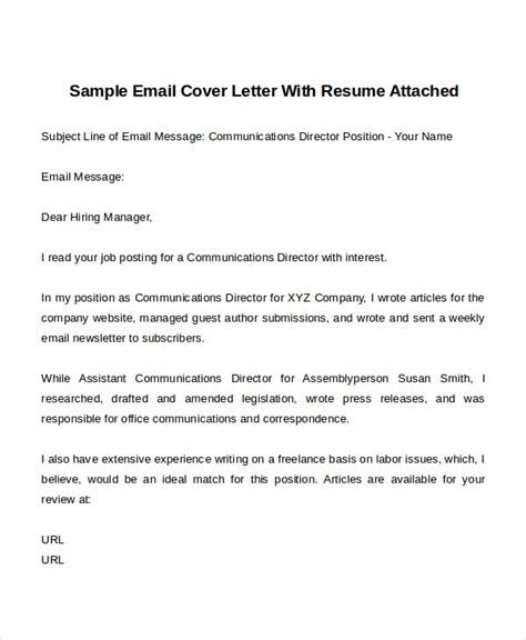 cover letter templates sample format