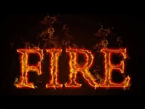 how to make fire text effects photoshop cc tutorial