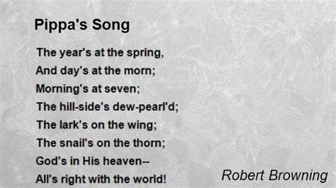 song poem pippa s song poem by robert browning poem