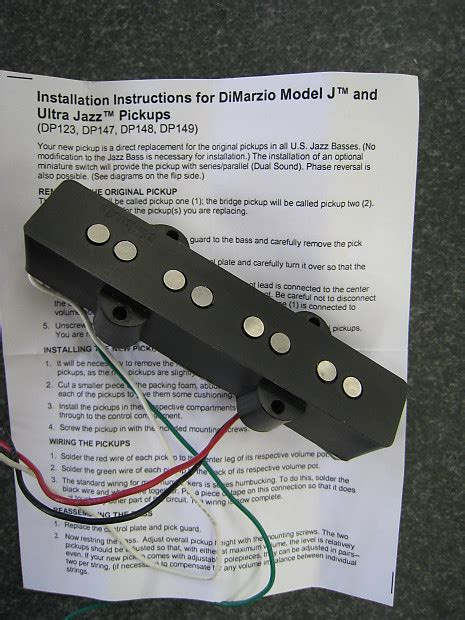 dimarzio ultra jazz bass bridge dp148 reverb