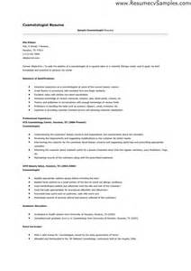 Cosmetologist Resume Example Cosmetology Resume Templates Learnhowtoloseweight Net