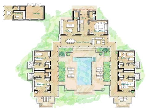 island style house plans hacienda style home floor plans spanish style homes