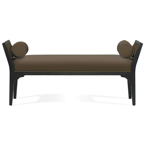 cameron bench cameron modern classic brown mocha wood bench kathy kuo home