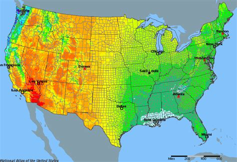 map us rainfall united states average annual yearly climate for rainfall