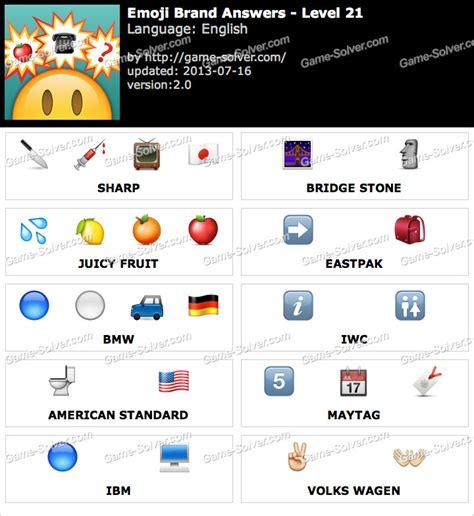 emoji quiz level 21 emoji brand level 21 game solver