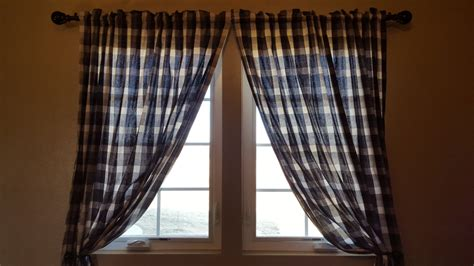 black plaid curtains black white buffalo plaid curtain panels or valance