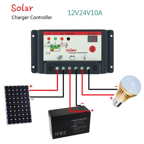 Solar Charge Controller Regulator 10a solar charge controller 12v 24v 10a solar panel charge regulator switching type l