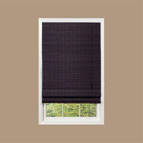 home decorators blinds home decorators collection espresso beveled reed weave