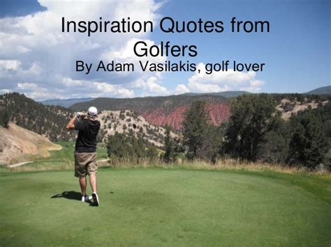 swing quotation inspirational golf quotes