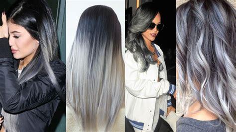 tintes de cabello para morenas 2015 pelo gris mujer