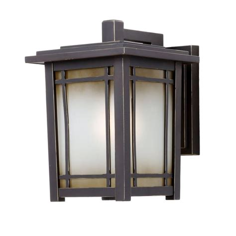 Outdoor Light Home Depot Home Decorators Collection Port Oxford 1 Light Rubbed Chestnut Outdoor Wall Mount Lantern