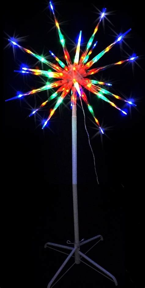 led meteor on stand multicolour star exploding firework
