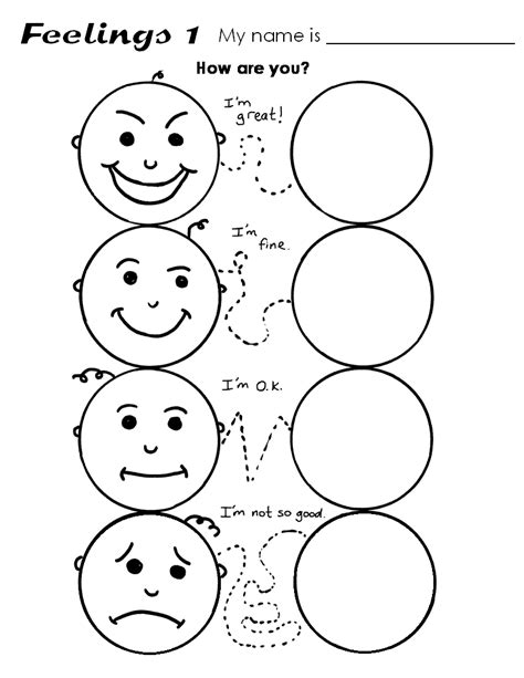 free emotion coloring pages