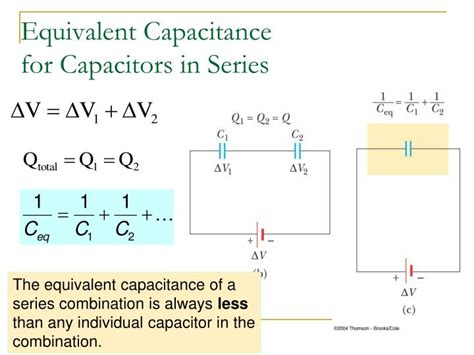 capacitance for capacitors in series ppt combinations of capacitors energy stored in a charged capacitor powerpoint presentation