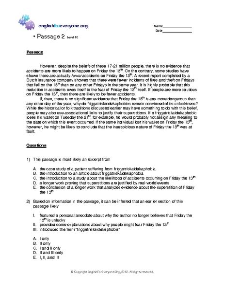 9th Grade Reading Comprehension Worksheets by Printables Reading Comprehension Worksheets 11th Grade