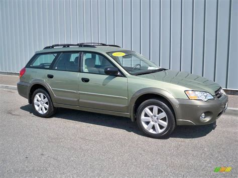 green subaru outback 2006 willow green opalescent subaru outback 2 5i wagon