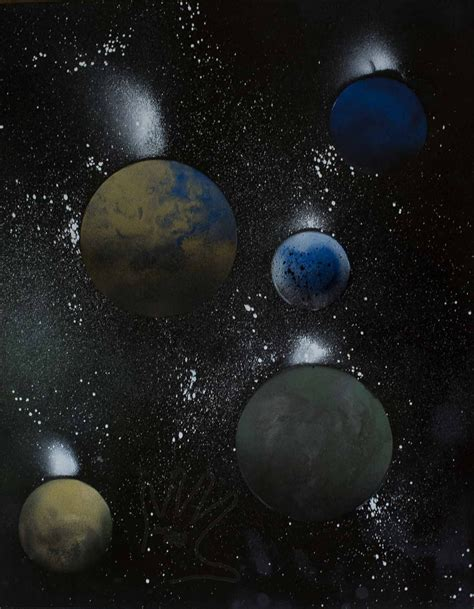 spray paint planets spray paint planets by sarahcaj on deviantart
