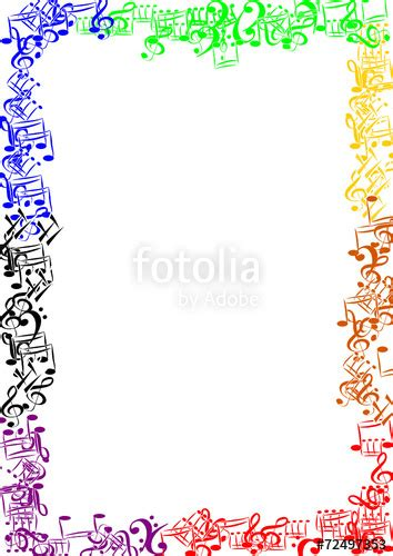 cornici colorate quot cornice di note colorate quot immagini e vettoriali royalty