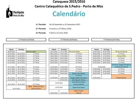 Calendario Quaresma 2016 Calend 225 Da Catequese 2015 2016 Par 243 Quia Porto De M 243 S