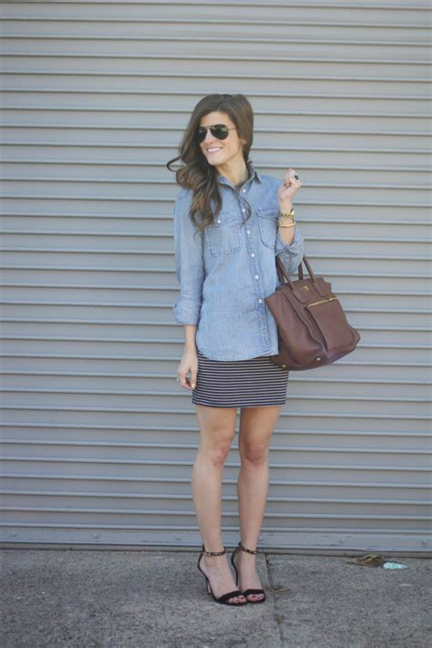 Utilikilt Lets Wear Skirts by How To Wear A Denim Shirt 13 Ways To Style Chambray
