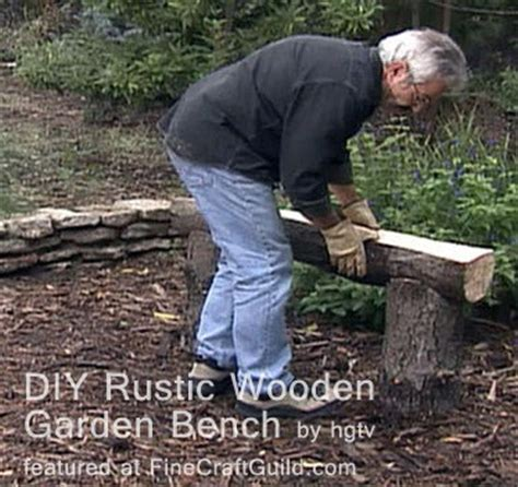 how to build a log bench rustic wooden stone garden benches