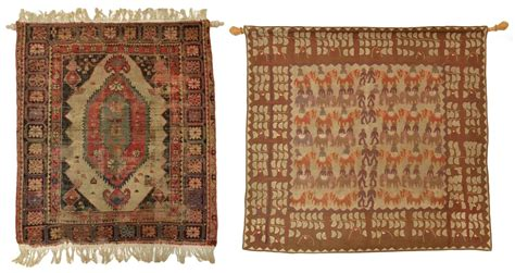 hanging a rug 2 antique woven rug india wall hanging spectacular 2 day estates auction