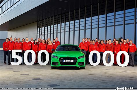 audi factory production milestone at the car factory of audi