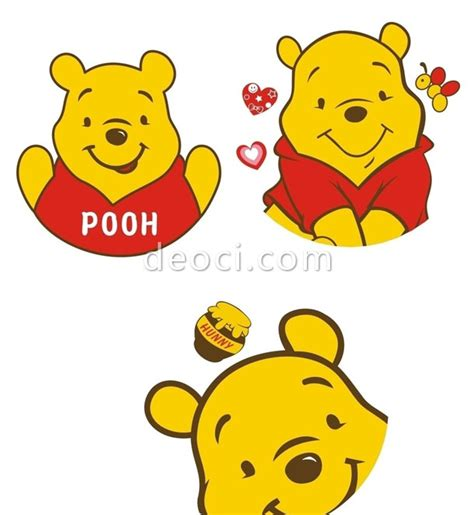 cute winnie the pooh cartoon vector coreldraw cdr format
