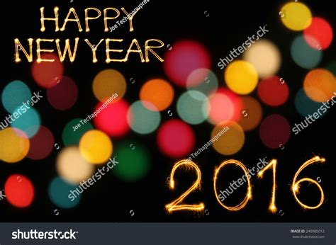 writing for happy new year happy new year 2016 writing sparkles stock photo 240985012