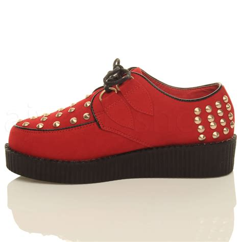Platform Wedge Flats womens flat platform wedge lace up