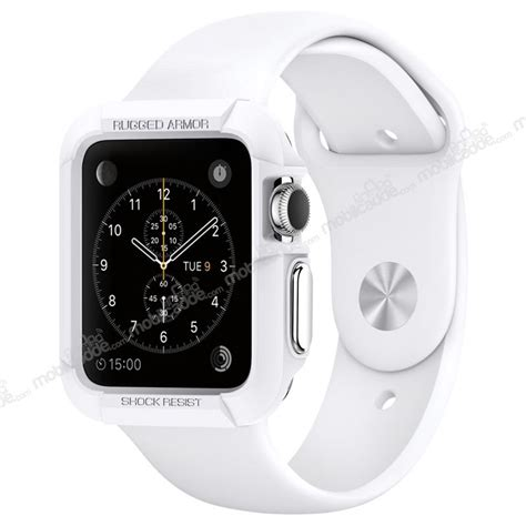 Iwatch Spigen Apple 38mm Silver Spigen Apple 2 Rugged Armor Ultra Koruma