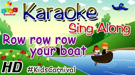 row your boat karaoke karaoke row row row your boat sing along with subtitles