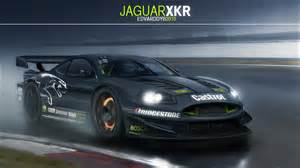 jaguar xkr racecar by dr on deviantart