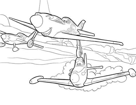coloring pages disney planes ripslinger surpass dusty on the race in disney planes