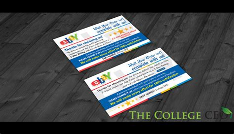 Ebay Seller Thank You Feedback Cards Template Free Download The College Ceo Ebay Thank You Card Template