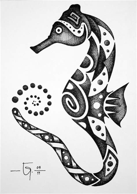 seahorse henna tattoo sketchbook 14 seahorse by jose garel alvoeiro deviantart