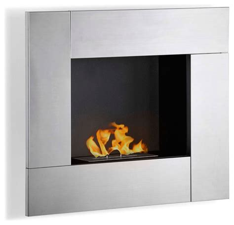 reus wall mounted ethanol fireplace modern indoor
