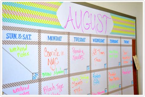 how to make a whiteboard calendar transformed a erase board camille styles