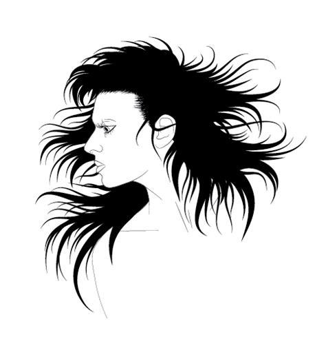vector hair strands tutorial how to illustrate dynamic hair using adobe illustrator s
