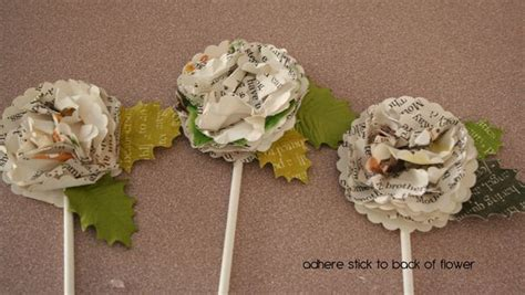 How To Make Book Paper Flowers - the possibilities are endless book paper flowers tutorial
